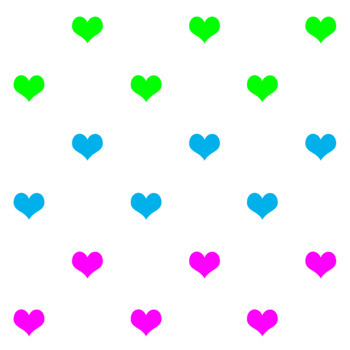 Valentines day - Mothers day - Only hearts (6 PNG files)