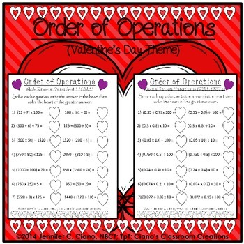 {Valentine's day} Order of Operations