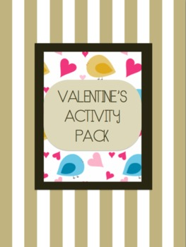 Valentine's day activity pack maths and english printables