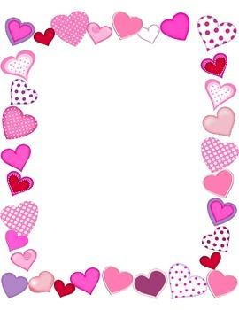 Valentine's day framed paper