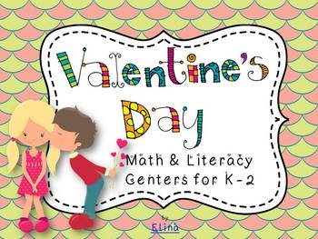 Valentine´s day math and literacy centers
