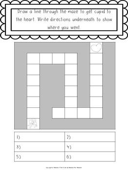 Valentine's day math and literacy printables No Prep