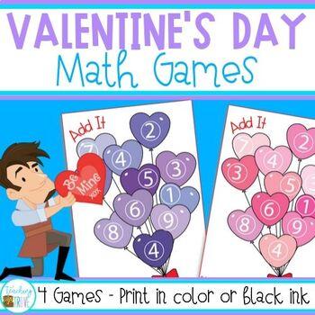 Valentine's day - math games