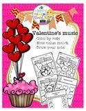 Valentines day music activities