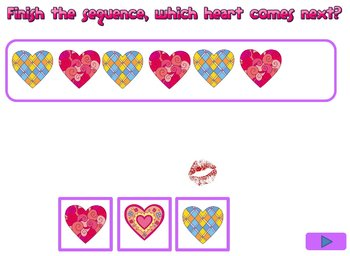 Valentine's day sequencing game - Powerpoint