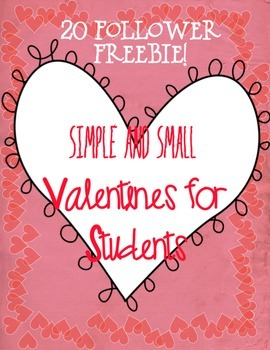 Valentines for Students~ Valentine's Day Hearts FREEBIE!
