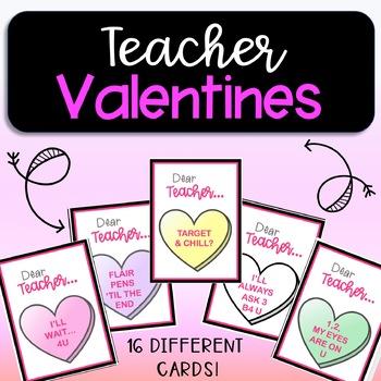Valentines for Teachers!  Funny Conversation Heart Valentines