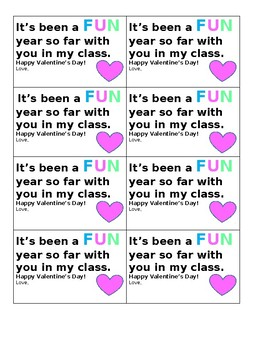 Valentines cards for students- Fun dip