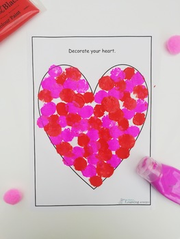 Valentines love heart - Art template