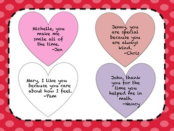 Valentine's Day Compliment Hearts