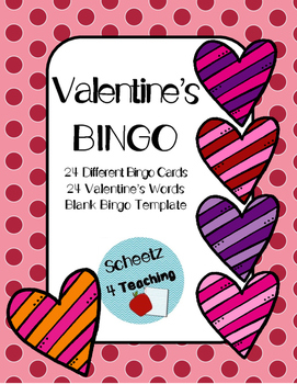 Valentine's Day Word BINGO