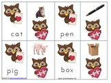 Valentines short Vowel Picture to Word Match