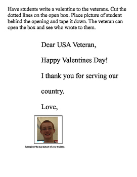 Valentines to USA veterans