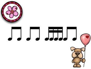 Valentines with Cat & Dog 4 Sounds on a Beat Takadimi {Interactive Rhythm Game}