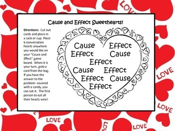 Valentine's Literacy Centers Games Test Prep Cause Effect Infer Fact Opinion 2-4