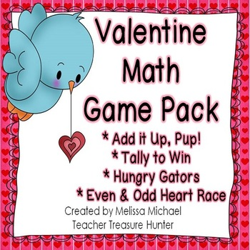 Valentine'sDay 4 Math Centers ~ missing addends, comparison symbols ++