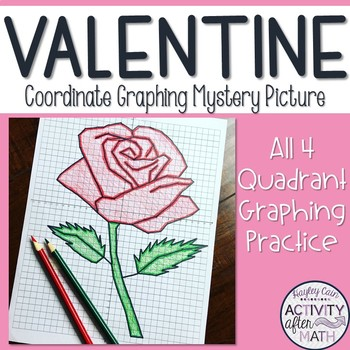 Valentine's/Mother's Day Rose Coordinate Graphing Ordered Pairs Mystery Picture!
