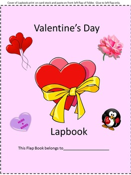 Valentines's Day Lapbook, P-k,K, Autism, Special Education, Preschool Centers