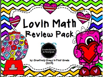 Valentine's Day Lovin Math Review Pack Common Core Aligned