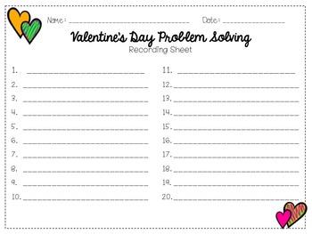 Word Problem Task Cards: Valentine's Themed