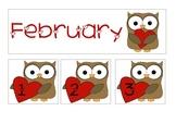 Valentine's Owl Calandar (February)