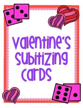 Valentine's Subitizing Cards - Quick Images