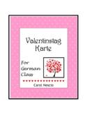 Valentinstag ♥ Karte For German Class