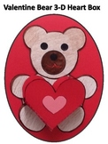 Valentne Bear 3-D Valentine Box