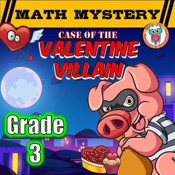 3rd Grade Valentine's Day Math Mystery Activity