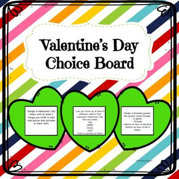 Valentine's Day Choice Board| February Enrichment
