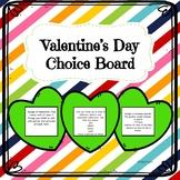 Valentine's Day Choice Board| February Enrichment