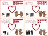 Valetine's Day Number Sense Cards