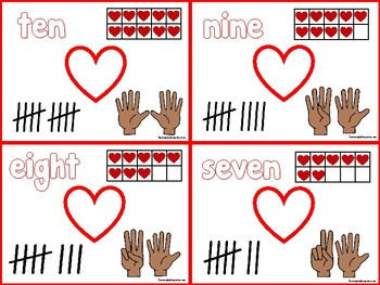 Valetine's Day Number Sense Cards