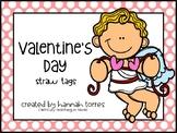 Valetine's Day Straw Tags