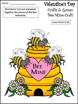 Valentine's Day Activities: Valentine's Day Crafts & Games Bundle - Color&BW