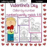 Valentine's Day color by number (1-10)