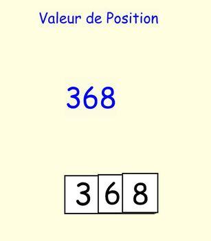 Valeur de Position (intro) Place Value Introduction