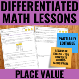 Valeur de position - French Place Value Lessons for Guided Math - Differentiated