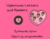 Valintines letters and numbers