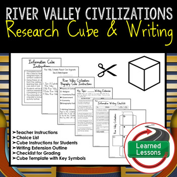 River Valley Civilizations Research Cube with Writing Extension Activity Pack