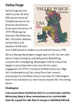 Valley Forge Handout