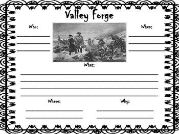 Valley Forge Worksheet
