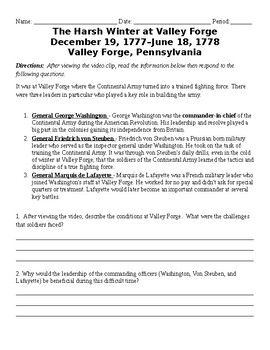 Valley Forge and Yorktown