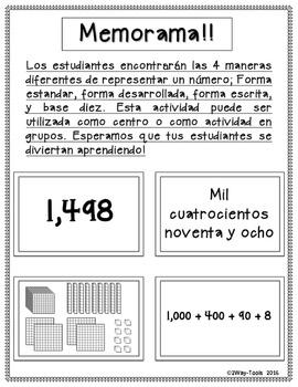Valor Posicional 3er grado (1,000´s - 100,000´s)