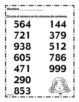 Valor Posicional Con Numeros de 3 Digitos - Math Games & Lesson Plans