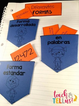 Valor Posicional - Place Value Spanish