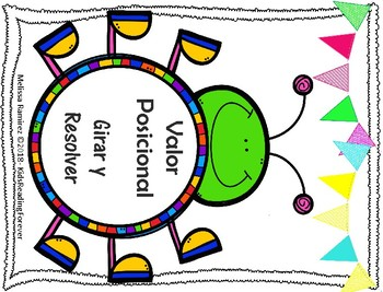 Valor Posicional- Place Value Spinner Games