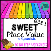 Valor Posicional/ Place Value Worksheets for 1st Grade in Spanish