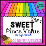 Valor Posicional/ Place Value Worksheets for 1st Grade in Spanish