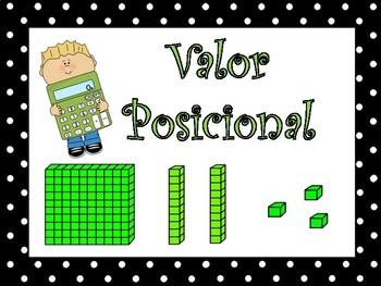 Valor Posicional / SPANISH Place Value Activities
